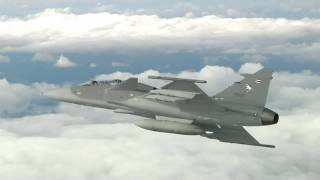Saab JAS 39 Gripen (Griffin) Fighter in Flight [HD]