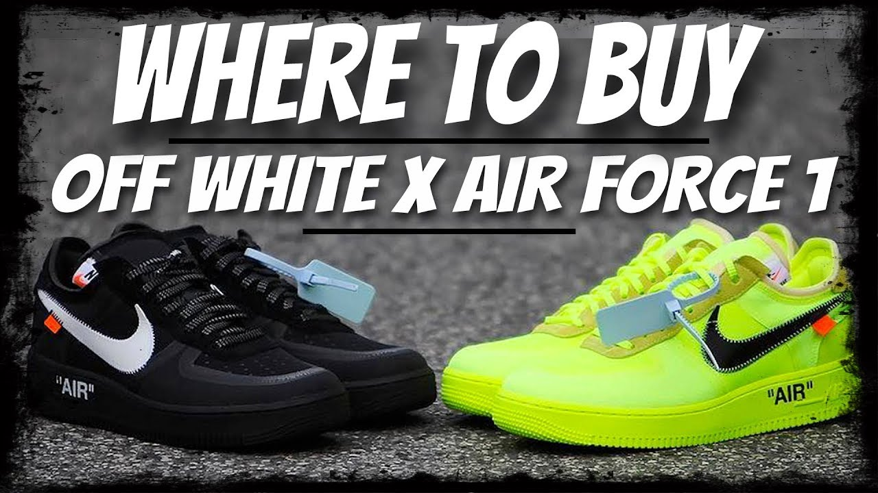 6514ad0b74a HOW TO COP OFF WHITE NIKE AIR FORCE 1