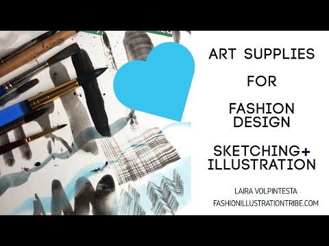 Fashion Sketching Art Supplies Kit for Freedom Fashion Program and Fashion Students