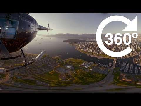 Downtown Vancouver at Sunset (4K 360 Video)