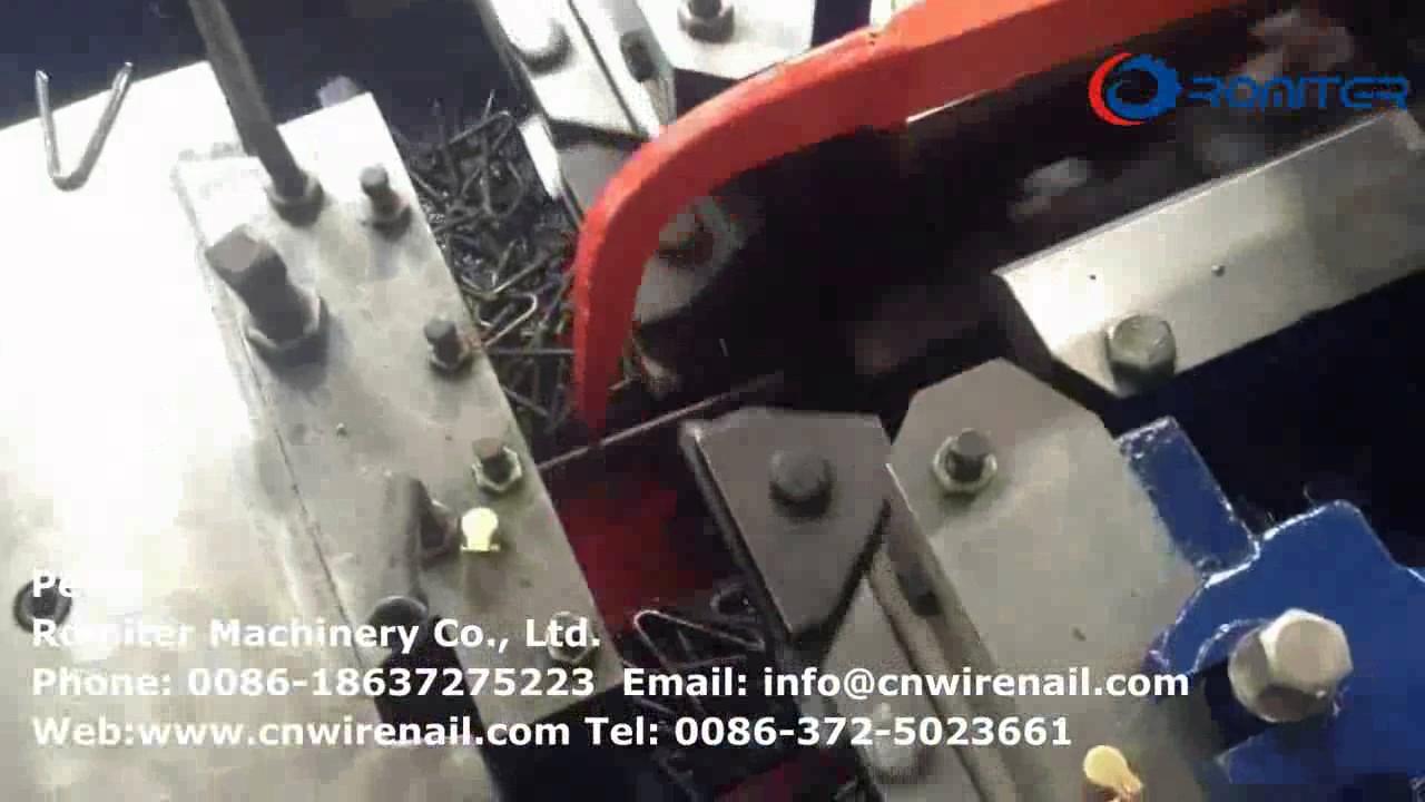 Full Automatic U Shape Nail Making Machine for Sale-Romiter ...