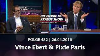 Pierre M. Krause Show vom 26.04.2016 mit Vince Ebert & Pixie Paris