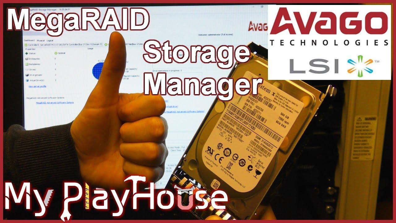 MegaRAID Storage Manager on x3550 M4 with Server 2016 - 672