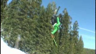 Http://www.shorelineoftahoe.comwatch mike wilson do some big tricks on his skis at sierra.