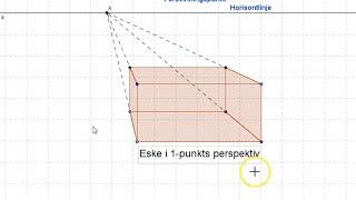 Geogebra - 1-punkts perspektiv - eske