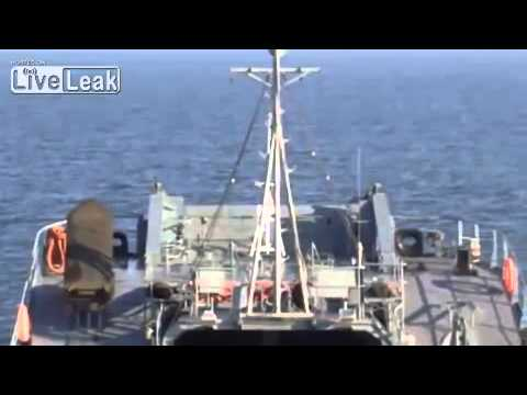 Underwater mine clearance from a Polish Navy ship