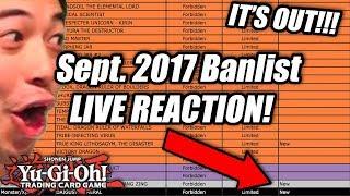 Yu-Gi-Oh! Official September 18th, 2017 TCG Banlist LIVE REACTIONS!