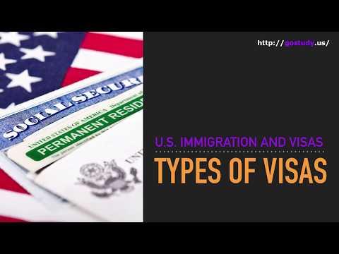 U.S. Immigration and Visas: Types of visas