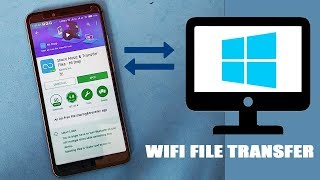How to Share Files From Android to PC Wireless Transfer - 2018 🚀