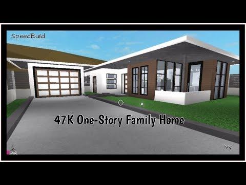 Roblox House Build 1 Story 47k One Story Family Home Roblox Bloxburg