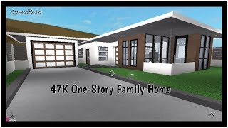 47K One-Story Family Home | Roblox Bloxburg |