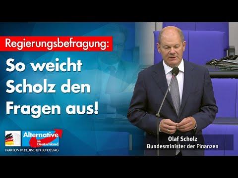 So weicht Scholz den Fragen aus! - AfD-Fraktion im Bundestag