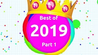 Crystal's BEST AGAR.IO MOMENTS 2019 Part 1 | Agario Compilation