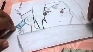 como desenhar e colorir  sasuke passo a passo how to draw sasuke for naruto
