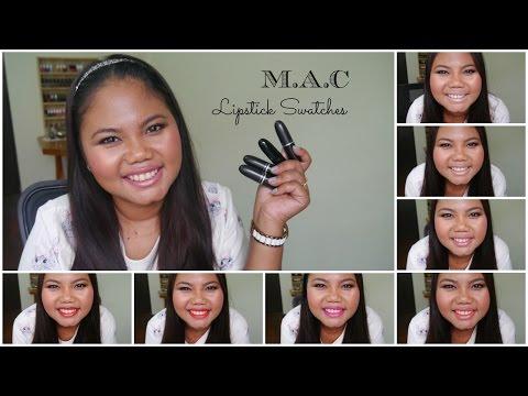 รีวิวและทาให้ดู M A C Lipstick Swatches | MaiRuuDee
