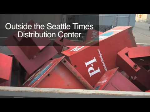 Seattle PI boxes in dumpster