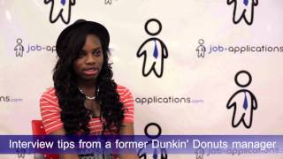 Interview Tips from a Dunkin
