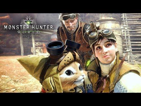 MONSTER HUNTER WORLD - Conferindo a Versão de PC Desse Jogo Charmoso! Gameplay tá Show!