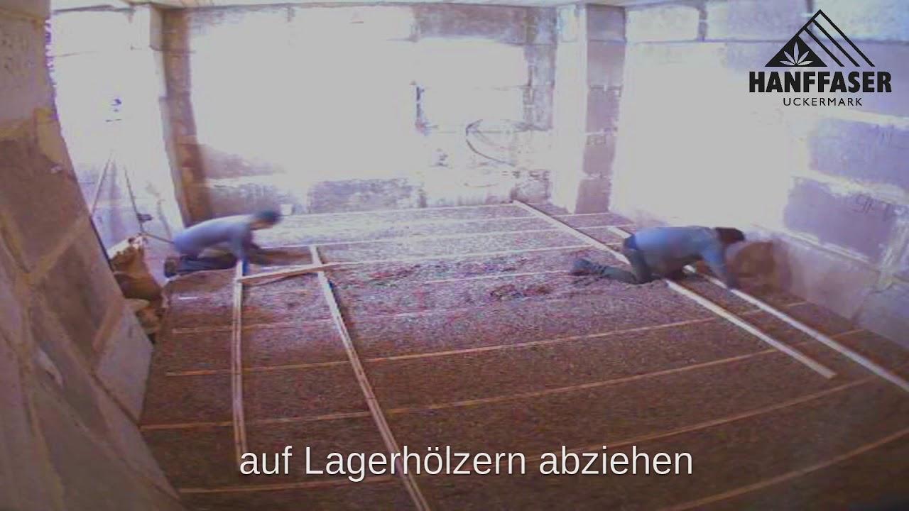 Fußboden Aus Lehm ~ Hanf lehm schallschüttung youtube