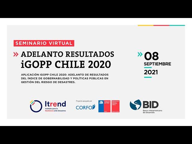 Seminario virtual: Adelanto resultados iGOPP Chile 2020