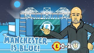 🔵0-2! Manchester is BLUE!🔵 Man Utd vs Man City 2019 (Parody Song Goals Highlights)