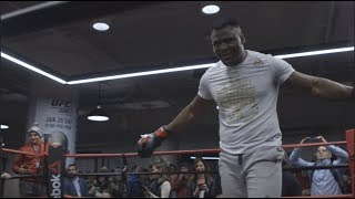 UFC 220: Open Workout Recap