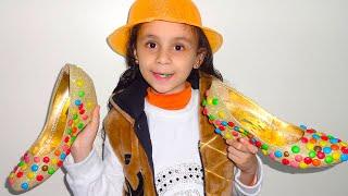 امريومة  بائعة أحذية الحلويات !!play and sell sweet shoes