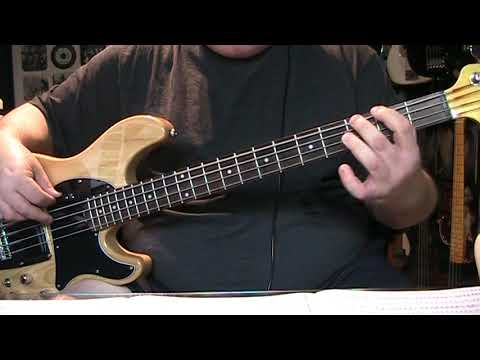 Kiss Domino  Bass Cover with Notes & Tablature