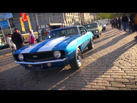 Muscle Cars Roaming the Streets! - Helsinki Cruising Night 6/2017