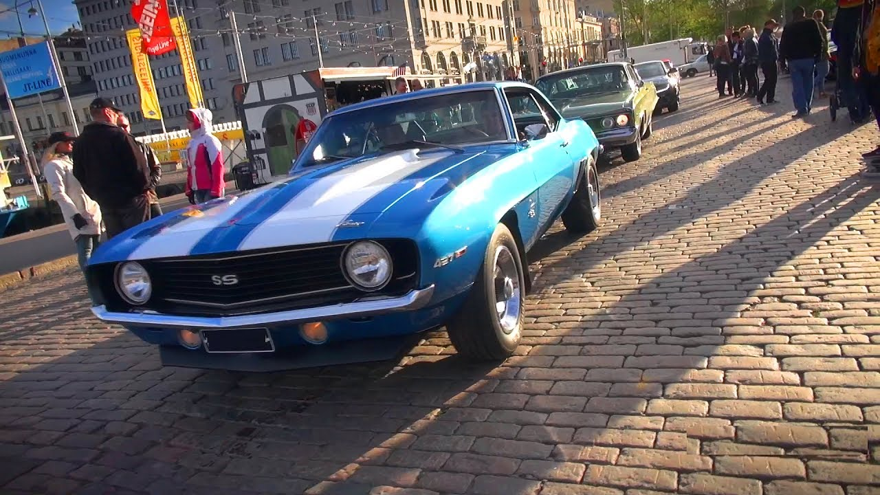 Muscle Cars Roaming The Streets Helsinki Cruising Night 6 2017