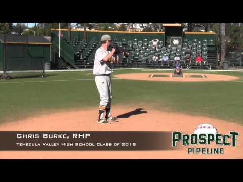 Chris Burke Prospect Video, RHP, Temecula Valley High School Class of 2018