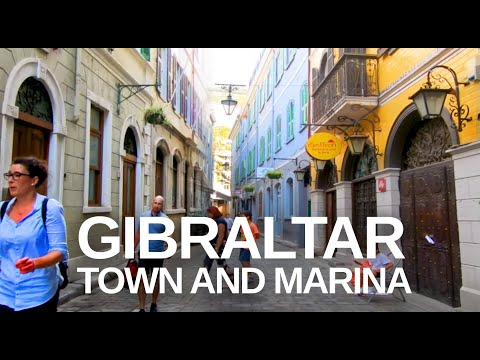 [4K] Gibraltar (2019) Walking Tour Through the City Centre