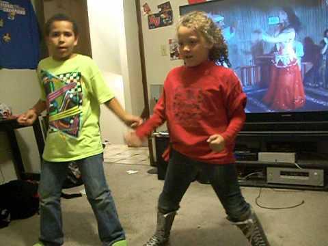 Kids doing the Sid Shuffle