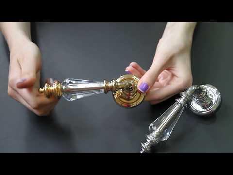 Дверные ручки с кристаллами Сваровски swarovski Fadex Siena SW - Lux-Art.ua