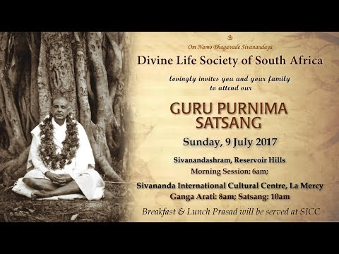 Guru Purnima 2017: Sivananda International Cultural Centre - South Africa