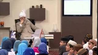 Bustan-e-Waqfe Nau, 14 June 2009, Educational class with Hadhrat Mirza Masroor Ahmad(aba)