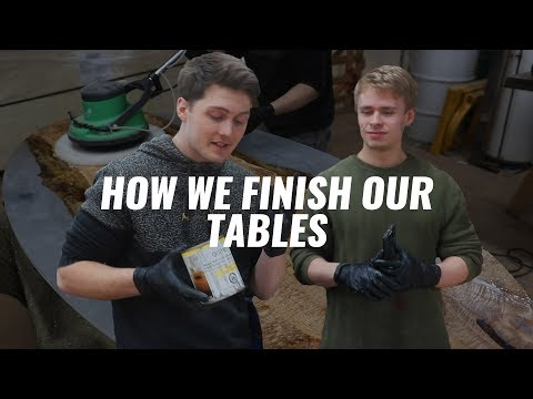 How to Finish an Epoxy Table