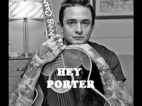 Johnny Cash - Hey Porter  (Rare 'Mono-to-Stereo' Mix - 1955)