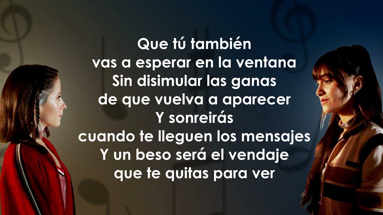 Aitana, Evaluna Montaner - Aunque No Sea Conmigo (Letra/Lyrics)