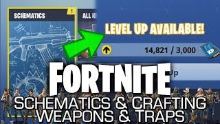 Fortnite - Crafting, Schematics, Weapons, Traps, Resources, Evolution & Ingredients - ALL EXPLAINED