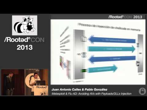 Flu Project - Metasploit & Flu-AD: Avoiding AVs with Payloads-DLLs Injection [Rooted CON 2013]