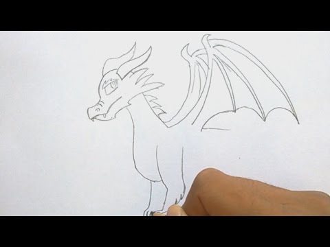 How to Draw a Dragon Step by step and easy