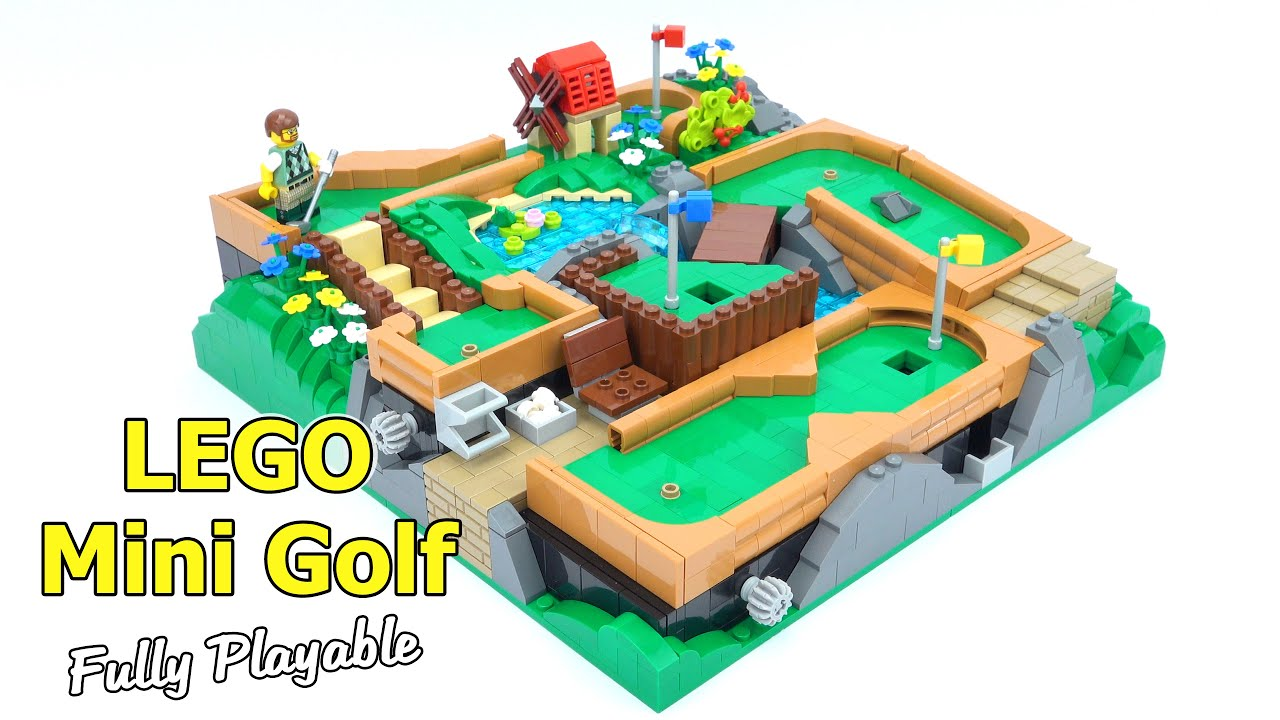 Working Lego Mini Golf Course - Fully Playable!