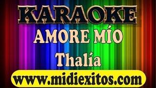 AMORE MIO - THALIA - Karaoke [HD]
