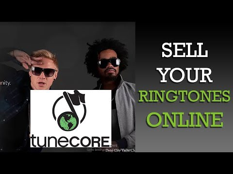 Sell your ringtones with Tunecore - How to set up an TuneCore account