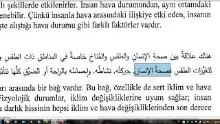 Samsun İLİTAM Arapça 1 / 3.Ünite