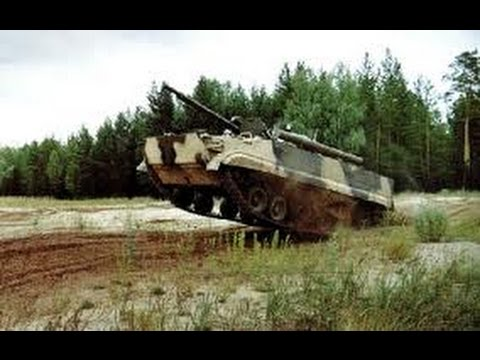 Russia and China Military APC race with explosions