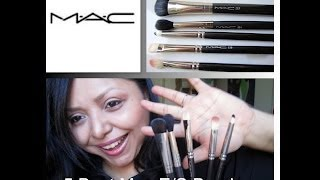 5 Best Mac Eyeshadow Brushes+ Easy E/S Tutorial Using the Brushes! Thumbnail