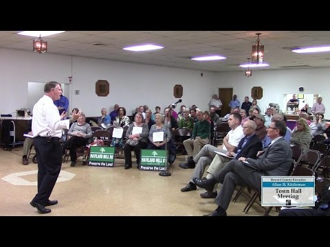 County Executive Kittleman's Town Hall Meeting in Lisbon, October 22, 2015