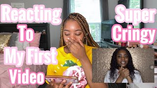REACTING TO MY VERY 1ST VIDEO🤭